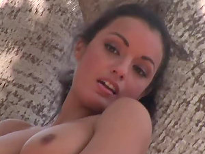 Brown-haired bombshell Jo Garcia goes fishing and poses nude for the webcam
