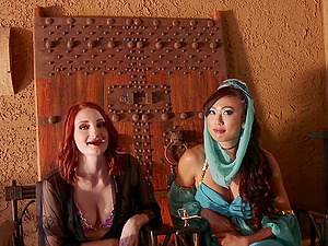 Violet Monroe and Venus Lux enjoy adorable sex experience together