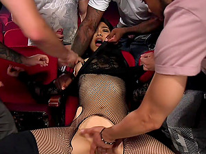 group sex and double penetration is all that Nari Park wants today