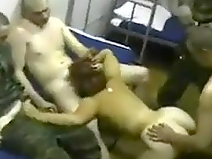 Russian Army Soldiers Gangbang Orgy With Prostitute