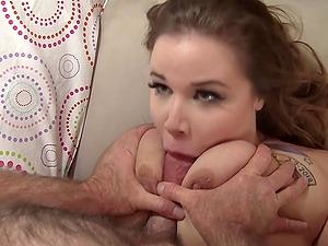 Plumper Busty Emma Spreads for Grandpa