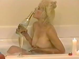 busty milf enjoys bubbling bath before amazing masturbation on the bed