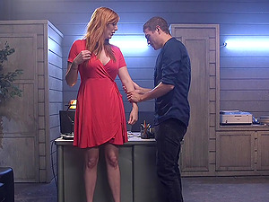 Submissive girl Lauren Phillips wants to be punished by her friend