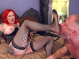 Everything about strong orgasm is very welcome for redhead Mz Berlin