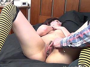 Desi Girl with Huge Clit Gets Twat Massage Orga