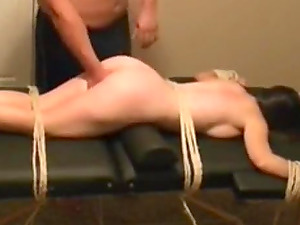 Helpless tied slave Adrianna flogged, humiliated, fucked and sprayed with my cum.