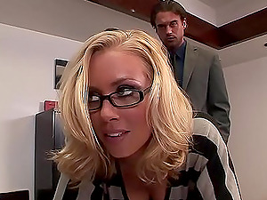 This crazy and horny couple adore having hard sex in the office after work