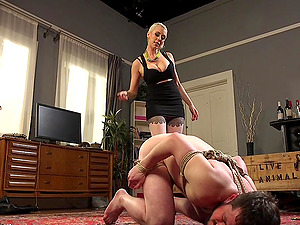 Slave by mail packet arrives for dominatrix blonde Lorelei Lee