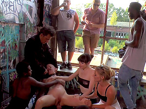 Mad Kate and Jolyne Joy tied up, tortured and humiliated in public