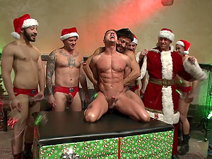 A New Year's surprise for those gays is the Connor Maguire's shaved penis