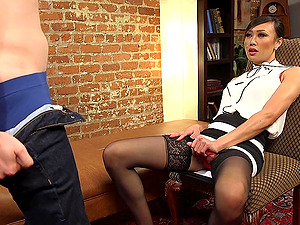 sexy lady Venus Lux adores sex in all different poses with a dude