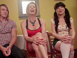 Delia DeLions enjoys kinky threesome with her amazing friend