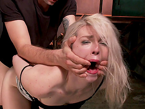 Brave blonde Ella Nova wants to try all sex poses and BDSM games