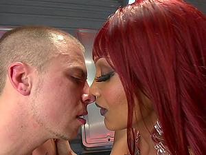 Redhead tranny Yasmin Lee enjoys memorable sex with her lover