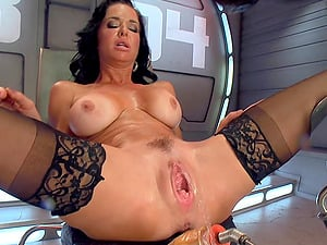 Veronica Avluv adores to feel sex toys in her wet and hairy pussy