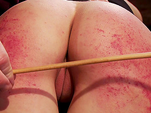 Skinny blonde girl Cadence Cross gets spanked and her pussy poked