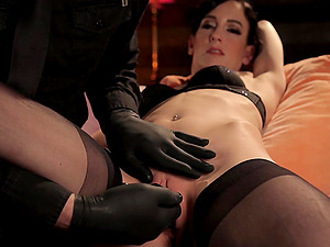 Tied Elise Graves is more than ready for sex games with dude's sex toys