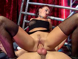 horny girl and Claudia Adams enjoy hardcore foursome on the floor