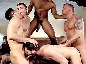 The best gay group video cum all over