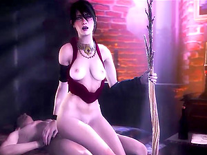 Horny brunette enjoying hardcore sex drilling session till the player starts to jizz on her face