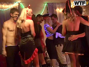 Crazy Halloween Lovemaking Soiree With Hot Honies