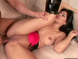 BJ & Assfucking With Brown-haired Cockslut