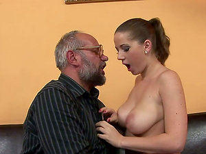 Sweet Tits Gets Fucked By Tricky Old Bastard