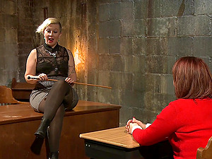 Spanking and torture lessions with Piper Rage and Tina Horn