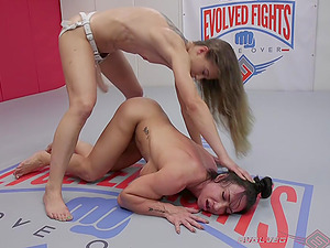 Adorable Cheyenne Jewel uses a strapon to fuck her lesbian friend