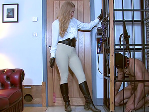 Horny dude wants to be punished badly by his friend Goddess Dommelia