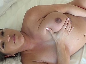oiled tits squeezed, stroked, slapped and pinched.