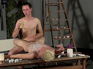 A pain and passion is the favorite mix for tied gay and Luca Finn