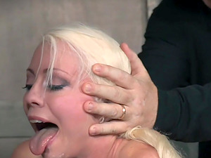 Standing doggy after rough blowjob is a wish of tied Lorelei Lee
