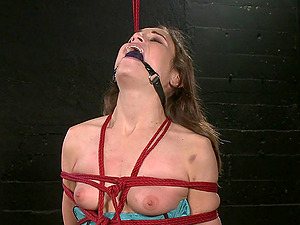 Amber Rayne decides to have fun and lesbian BDSM in the basement