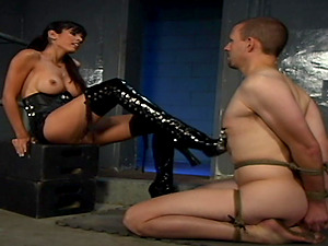 Stunning Shy Love uses a strapon to please her friend's kinky wishes