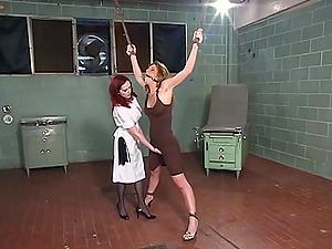 Mz Berlin and Kayla Paige enjoy hardcore lesbian fuck on the floor