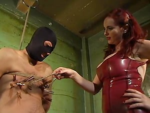 Busty redhead Mz Berlin wants to show her friend what is the BDSM