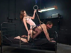 The pain and pleasure are favorite sex mix for dominant Amber Rayne