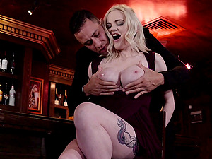 Hot Carly Rae adores doggy style after a blowjob in the night bar
