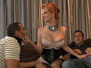 Tarra White adores to blow a boner while other guy destroys her cunt