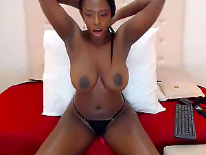 Horny African babe having fun with her lovense vibrator