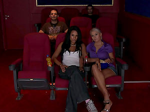 Two Stunning Lesbos Get It On In The Cinema