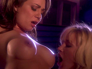 Katarina Kat and Holly West decide to share friend's hard penis