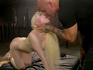Submissive chick Natasha James craves for her friend's strong shaft