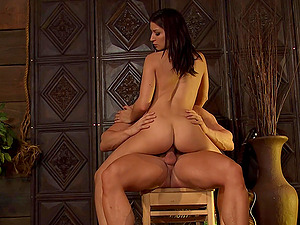 Jumping on a stranger's black cock is the favorite sport of Ann Marie Rios