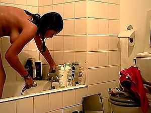 Relax time in the bathroom from Italian cutie
