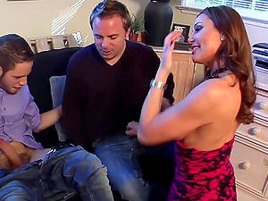 Bisexuall group experience with Sky Taylor is memorable for her friends