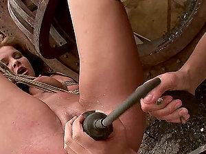 Kissy gets her snatch fisted by Sabrina Sweet outdoors