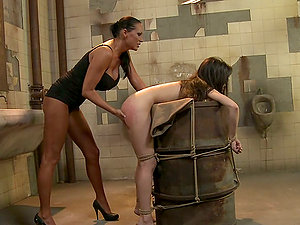 Ann Marie La Sante gets disciplined in a public bathroom