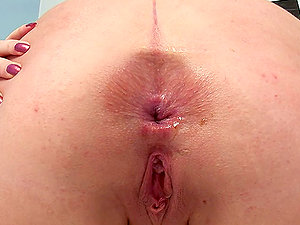 Horny honey Olivia got a widely opened fuck hole in her booty